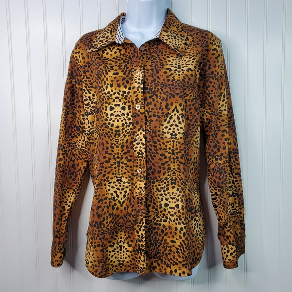 Jones New York Tops - Jones New York Signature Animal Print Button Down
